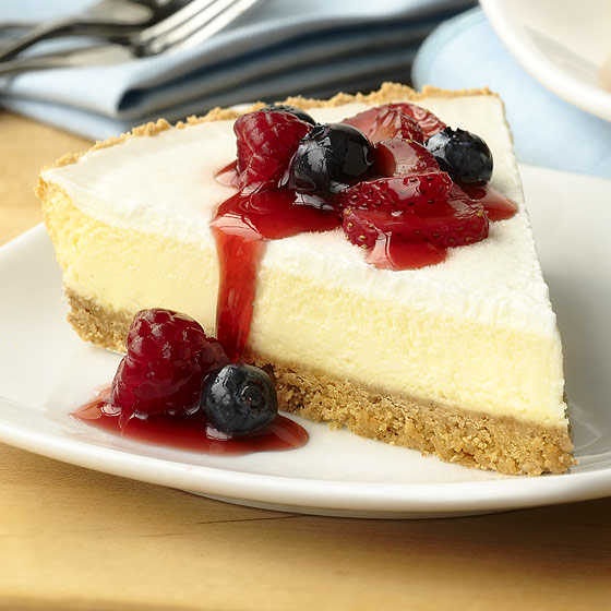 Cheesecake should be simply plated