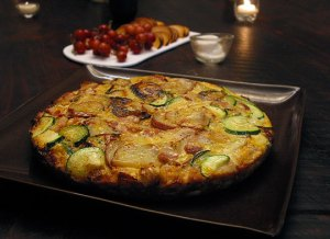 A Frittata or Spanish omelette